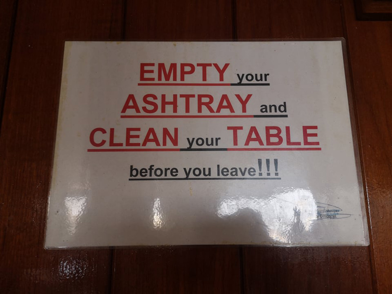 cruise ship crew sign in crew bar