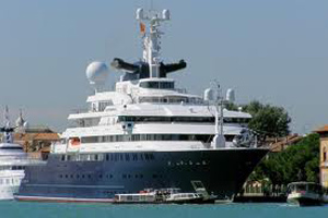 Superyachts Anchored For The London Olympics Crew Center