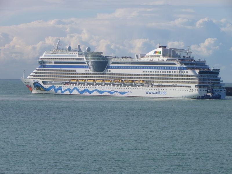 Aida Blu cruise ship sailing Mauritius