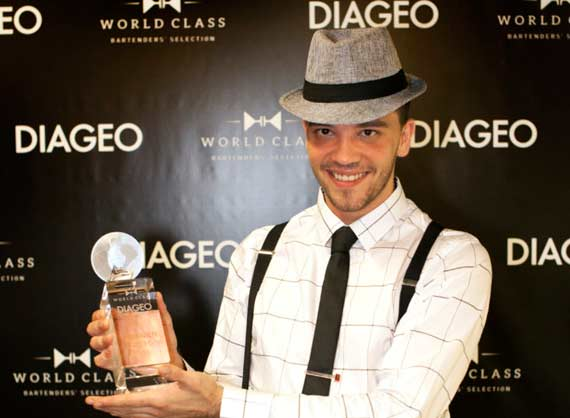 Diageo Global Travel winner Andrej Malic, from Bosnia and Herzegovina