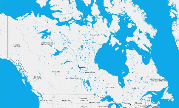 Map Of Canada Today.Canada Cruise Ports Schedules 2018 Crew Center