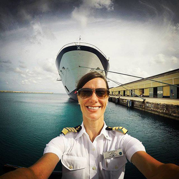Celebrity Cruises Captain Kate McCue selfie