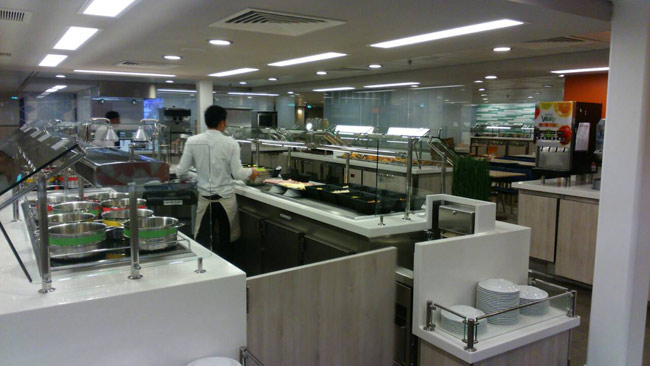 Crew Mess Cafe 365 on cruise ship