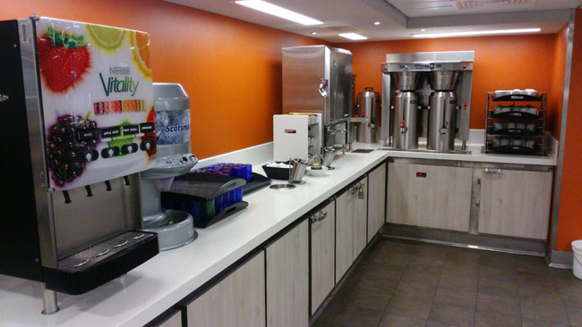 crew mess coffee station