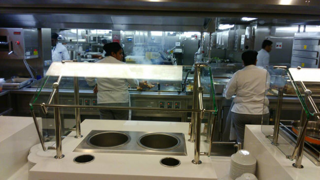crew mess galley on cruise ship Edge