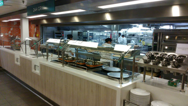 Crew mess hot food line