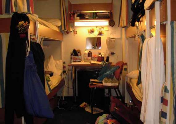Inside Crew Cabins On Cruise Ship