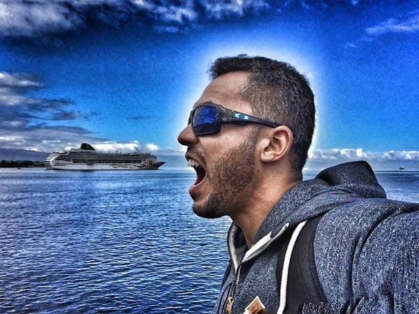 amazing cruise ship selfie