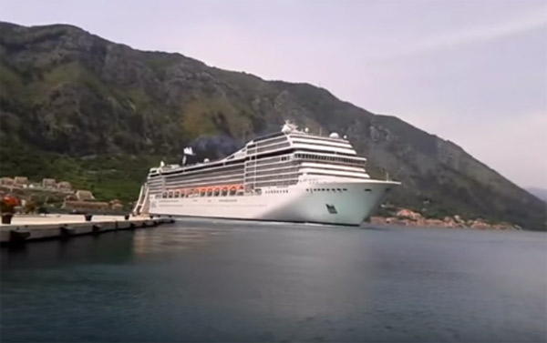 Cruise Ship Captain Gets Speeding Ticket In The Bay Of Kotor - Cruise ship speed