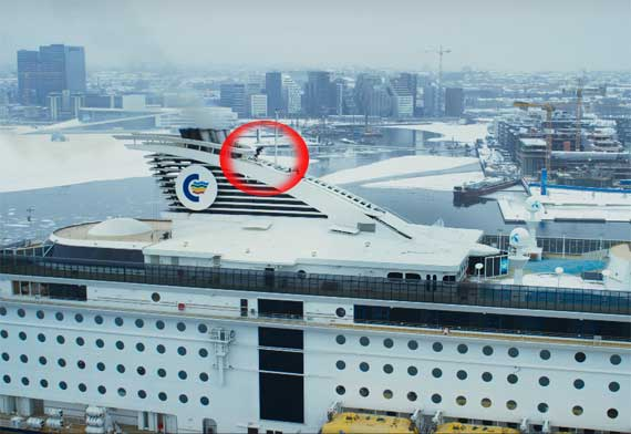 Extreme Skiing On Top Of A Cruise Ship Crew Center - Cruise ship movie