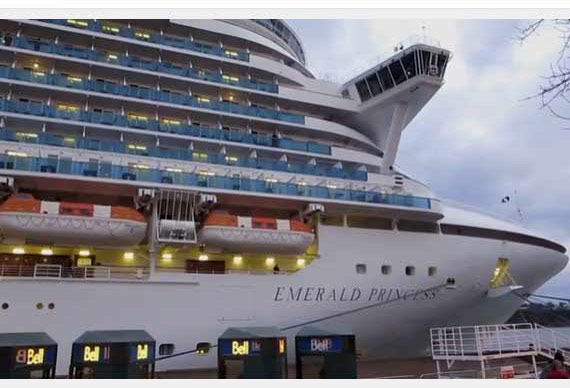 emerald princess cruise ship in new zealand