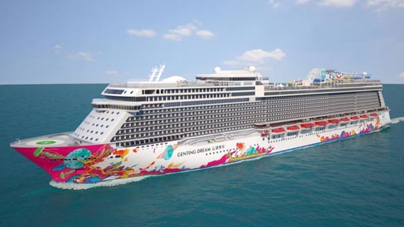 genting dream cruise ship at sea