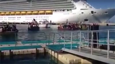 Royal Caribbean Freedom of the Seas prevented from docking by