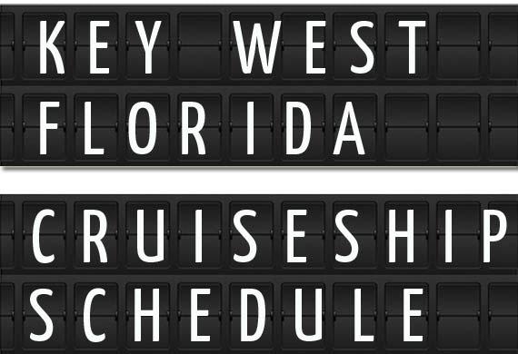 Key West Florida Cruise Ship Schedule Crew Center - Key west cruise ship calendar