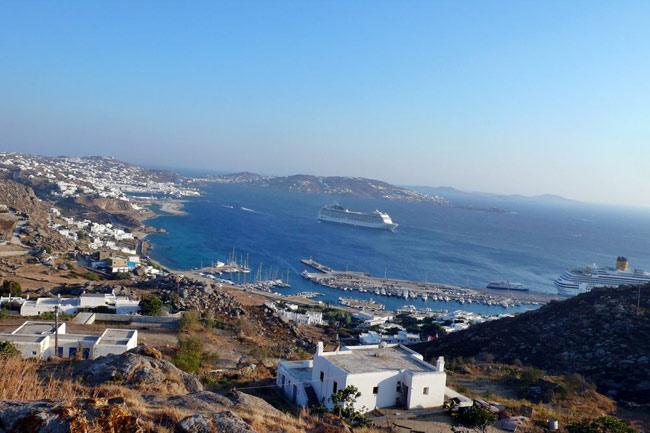 My favorite cruise port Mykonos