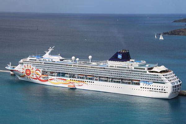 Norwegian Sun cruise ship in South America