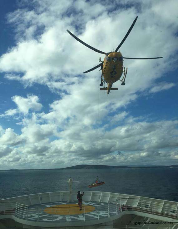 Ovation of the Seas medical evacuation in australia