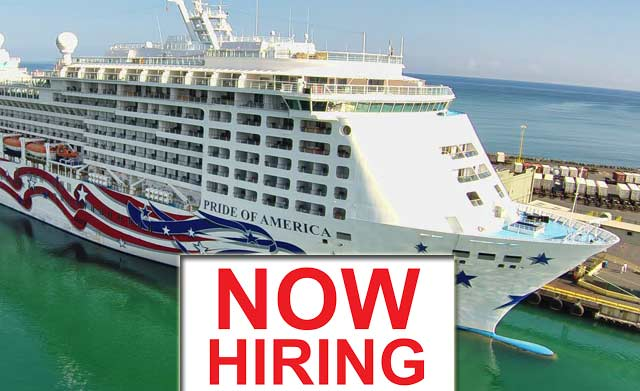 Norwegian Cruise Lines Hiring Staff For The Cruise Ship Pride Of - Staff on a cruise ship