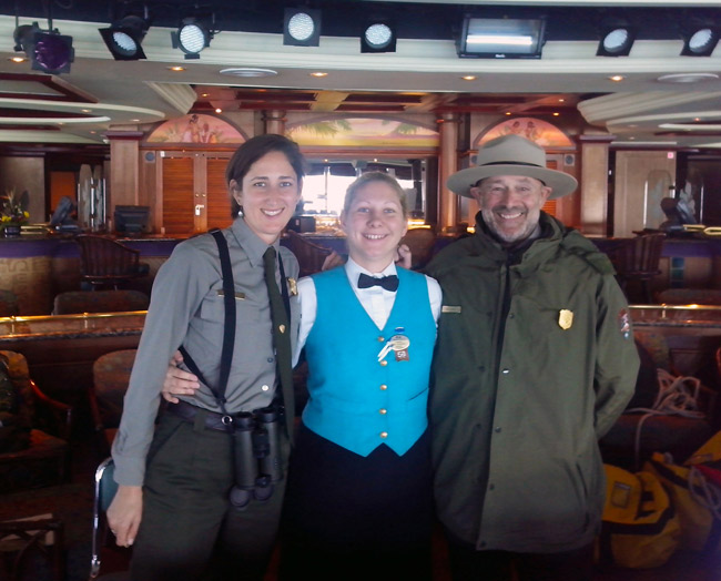 bar waitress on princess cruises