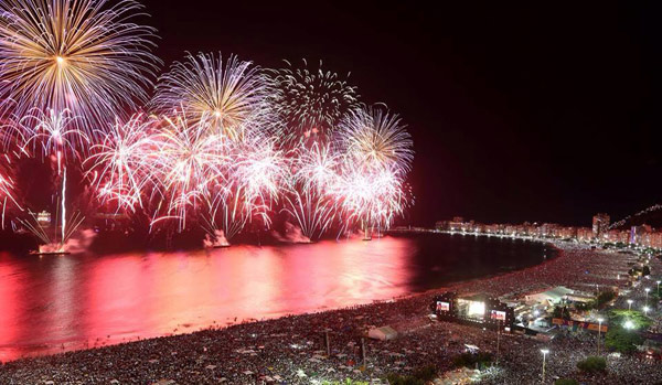 New Year Eve Copacabana fireworks