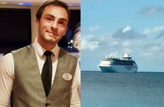 Enis Mahic cruise ship crew member jumps overboard from Majesty of the Seas