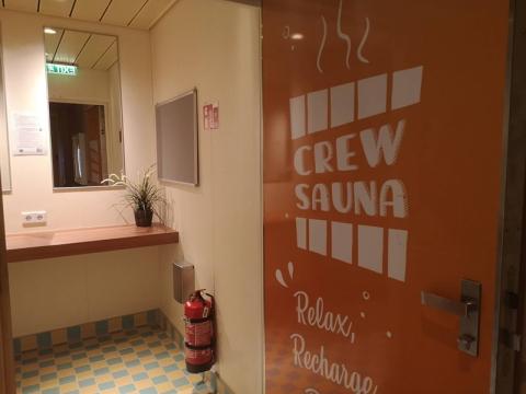 cruise ship crew sauna