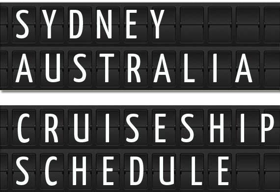 Sydney Australia Cruise Ship Schedule 2018 Crew Center