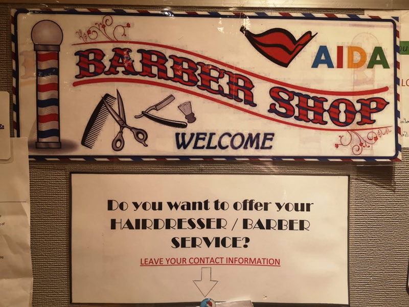 Crew Barber Shop Hairdresser AIDA Cruises Hyperion Class ...