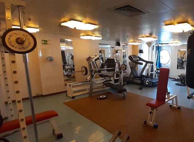 Crew facilities on the cruise ship Grand Celebration ...