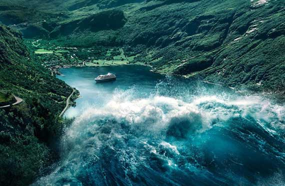80-meter high tsunami threatens to devastate Geiranger | Crew Center