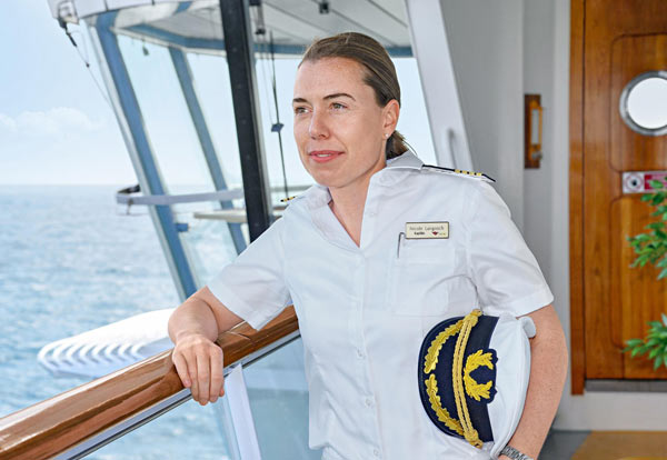 AIDA Cruises Names First German Female Captain | Crew Center