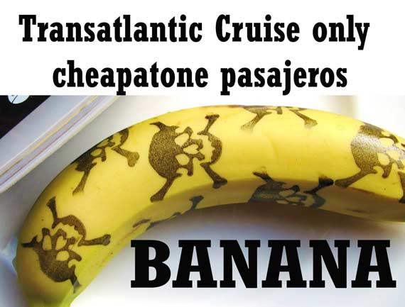 transatlantic cruise banana for crew fun